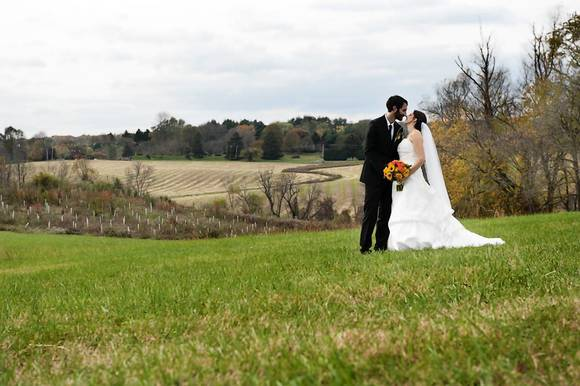 "Katy Ekey and Dan Self said ""I do"" at the Howard County Conservancy."