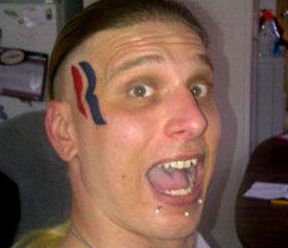 Before the election, Eric Hartsburg proudly displayed his Mitt Romney tattoo. Now he's had a change of heart -- and will have a change of face.