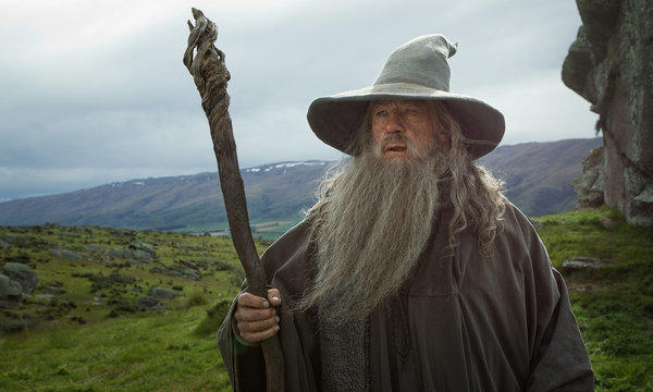 "Ian McKellen as the Wizard Gandalf the Grey in ""The Hobbit: An Unexpected Journey."""