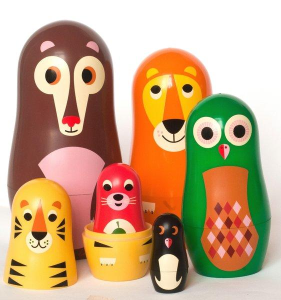 The Swedish firm OMM Design puts a sweet spin on a Russian tradition with retro-flavored nesting dolls. The smallest of the critters is barely an inch tall. $28.50 for the set, Huset, 1316-1/2 Abbot Kinney Blvd., Venice, (424) 268-4213