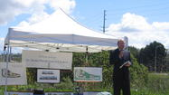 Pastor Gary Collins at the Ground Blessing Ceremony for St. Mark's new church campus on San Joaquin Hills Road in Newport Beach on April 23, 2006.