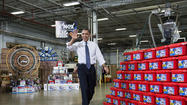HATFIELD, Pa. – President Obama cast himself in the role of Santa Claus during a visit to a toy factory  Friday, suggesting that Republican lawmakers should get only a lump of coal in their stockings if they don't work with him this month to extend tax cuts for the middle class.