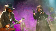 Original shock rocker Alice Cooper played his first show in years in Los Angeles on Thursday night at the Orpheum Theatre downtown and was joined by actor-musician Johnny Depp, who's been giving his own rock chops a serious workout this year.