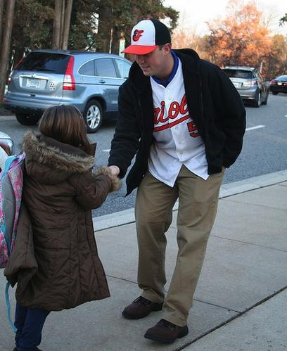 Baltimore Orioles pitcher Steve Johnson visited his alma mater, St. Paul's School, in Brooklandville on Friday, Nov. 30.
