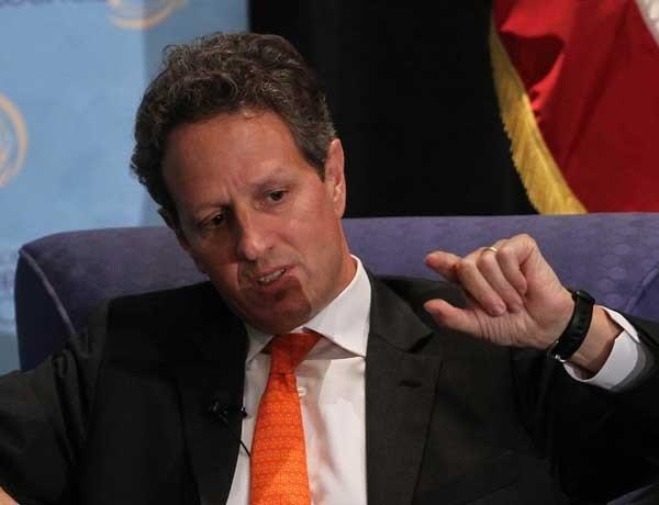 Secretary of the Treasury Timothy F. Geithner makes the rounds on the major Sunday talk shows