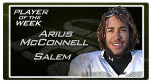 Player of the Week -- November 23 -- Arius McConnell, Salem