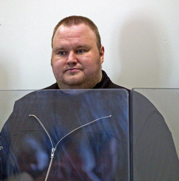 Megaupload founder Kim Dotcom has been charged by the U.S. Justice Department with copyright infringement. Above, Dotcom in custody in New Zealand in January.