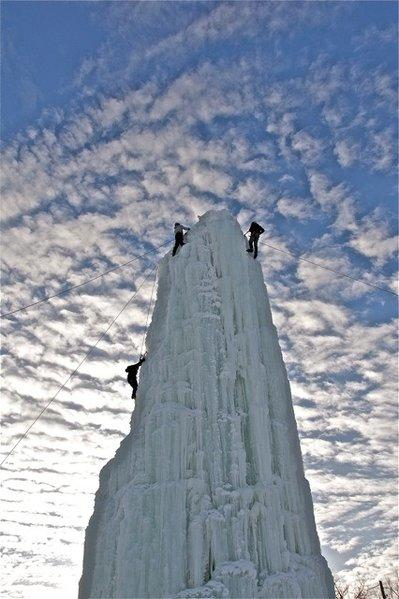 Six stories of ice await climbers in Winnipeg, Canada.