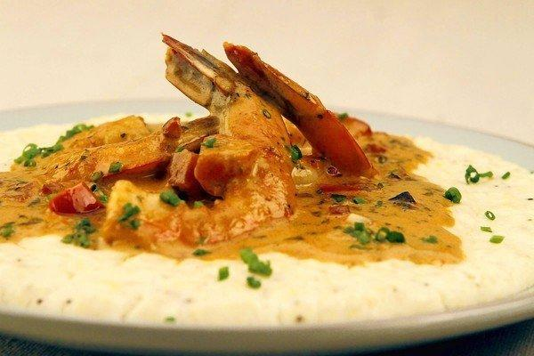 Shrimp and grits from Bar/Kitchen.
