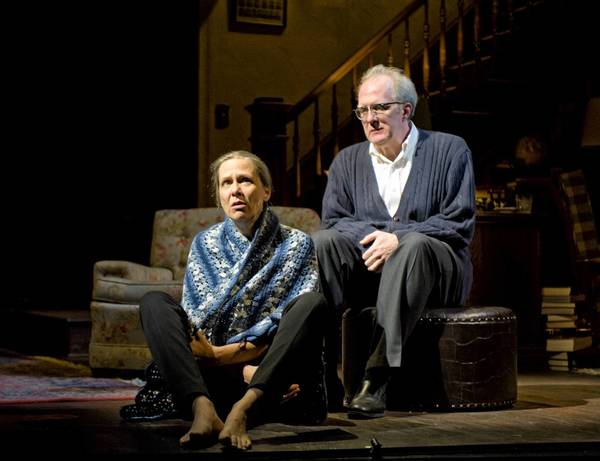 "Amy Morton, left, and Tracy Letts in ""Who's Afraid of Virginia Woolf"" at the Booth Theatre."