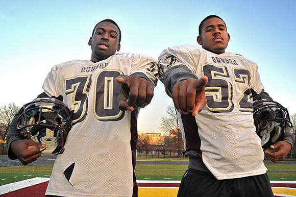Dunbar's Marvin Gross and Malik Jones