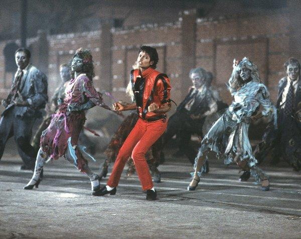 Pop superstar Michael Jackson shown in his landmark video for the title song from his hit album 'Thriller,' released on Nov. 30, 1982.