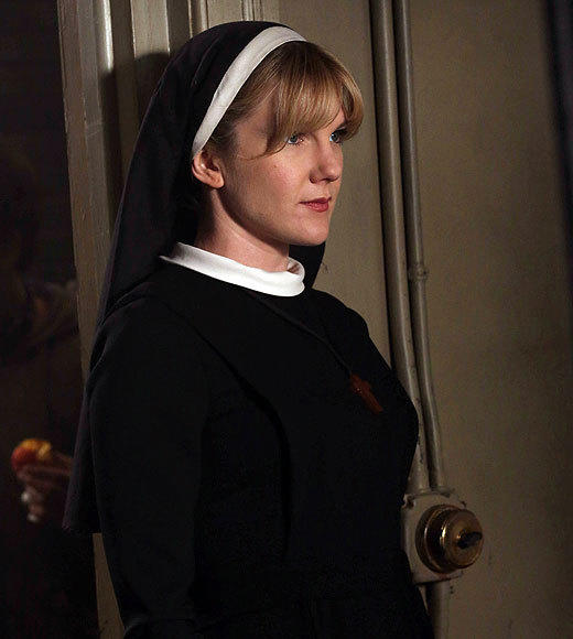 "<b>You know her as:</b> Sister Mary Eunice, the innocent nun turned demonically-possessed monster <br><br> <b>Why we like her:</b> Rabe already impressed as socialite spirit Nora Montgomery on the first ""Horror Story"" miniseries, but she's found an even bigger showcase as Mary Eunice in the second. Originally a sweet counterpoint to Jessica Lange's authoritarian Sister Jude, everything changed when Mary Eunice was possessed by a demon after she witnessed an exorcism. Now she's a sexually assertive terror, protecting the diabolical Dr. Arden (James Cromwell) and psycho killer Dr. Thredson (Zachary Quinto) alike. Few actresses get the chance to demonstrate that kind of range, and do it as well, as Rabe. <br><br> <b>Where else you've seen her:</b> The daughter of late actress Jill Clayburgh and playwright David Rabe, Lily Rabe is best known for her stage work including a Tony-nominated turn as Portia opposite Al Pacino in ""The Merchant of Venice."" But she's also guest starred on ""Nip/Tuck,"" ""Medium,"" ""The Good Wife"" and three different ""Law & Order"" series. <br><br> <i>-- <a href=""http://twitter.com/geoffberkshire"">Geoff Berkshire</a>, <a href=""http://www.zap2it.com"">Zap2it</a></i>"