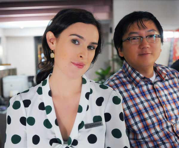 "Masi Oka and Rumer Willis in""Hawaii Five-O"""