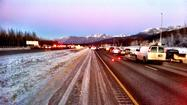 Anchorage police say all lanes of the Glenn Highway have reopened after a multiple-vehicle collision that injured at least one person.