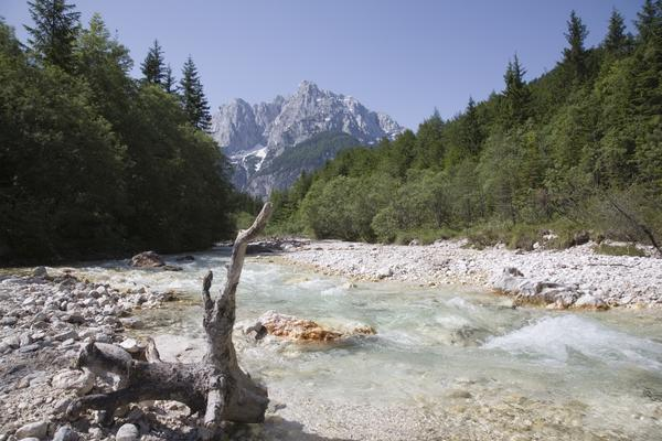 Bordering Austria and Italy, Northern Slovenia and the Julian Alps are a growing skiing destination, but also a great destination for those who simply appreciate unspoiled nature. Triglav National Park, home to Mount Triglav, Slovenia's highest mountain, is also Slovenia's only national park and one of the oldest protected parks in Europe. Hiking is a popular way to explore the park and see Lake Bohinj, Slovenia's largest glacial lake. To the north of Mount Triglav, Kranjska Gora provides opportunities for skiing, hiking, and night tobogganing. In addition to the physical activities, Kranjska Gora also has a casino and hot springs for when visitors want to relax.