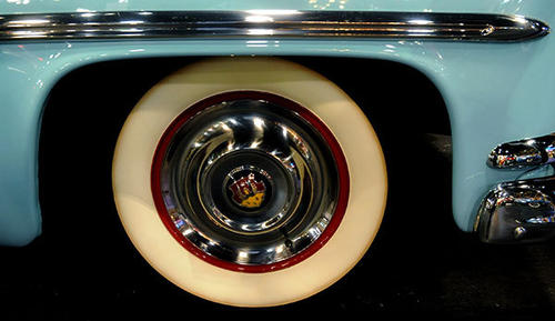 ( The front right wheel of a 1951 Oldsmobile 98 Convertible Coupe) Car collector and owner of the Cars of Dreams Museum, John Staluppi, auctioned off his prized car collection in North Palm Beach on Saturday, December 1st, 2012.