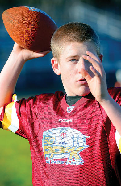 Robert Fink Jr. will be competing in the Punt, Pass and Kick at the Washington Redskins game Monday night.