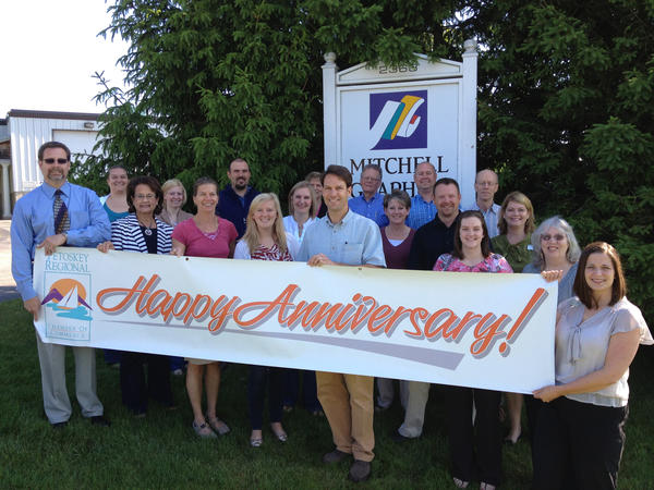 Mitchell Graphics in Petoskey celebrates its 40th anniversary this year.