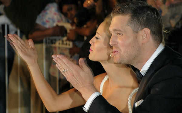 Crooner Michael Buble became engaged  to Argentinian model Luisana Lopilato in 2009 and married the beauty two years later, on March 31, in her native country.