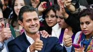 MEXICO CITY -- Enrique Peña Nieto, a telegenic and politically savvy former state governor, was sworn in as president of Mexico on Saturday in a raucous ceremony marked by violent protests that left several people wounded.