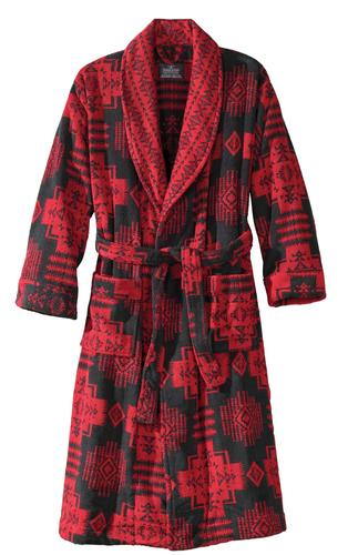 "Relaxing is an important part of keeping healthy, so here's a comfy, thick, unisex cotton terry robe in a classic pattern honoring the Nez Perce chief, from Pendleton Woolen Mills in a pattern designed in the 1920s. <br><br> $178, (800) 649-1512, <a href=""http://www.pendleton-usa.com"">http://www.pendleton-usa.com</a>"