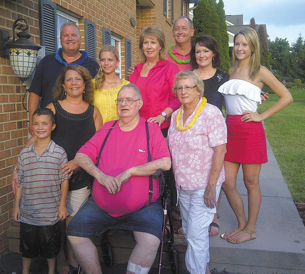This photo was taken at a family gathering this summer. Pictured are, front row, from left, Ben Farmer, Amy Farmer, Harry Smith and Carolyn Smith; and back row, Greg Farmer, Sara Farmer, Valerie Smith, Steven Smith, Sabrina Smith and Carlin Smith.