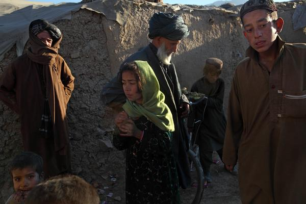 More than 30,000 displaced Afghans have settled in illegal camps around Kabul.