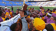 No. 6 Dunbar rolls over New Town, 39-0, for Class 1A state title