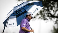 Graeme McDowell kept his foot on the gas and shot a four-under-par 68 in the third round to maintain the lead Saturday at the World Challenge in Thousand Oaks.