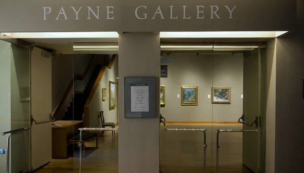 Moravian College's Payne Gallery in the Priscilla Payne Hurd Center for Music and Art.