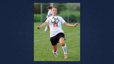Somerset senior Megan Lenzi was named to the all-state soccer team for her defensive efforts.