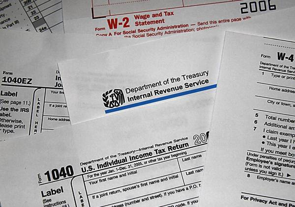 This 2006 file photo shows US Internal Revenue Service (IRS) tax forms.