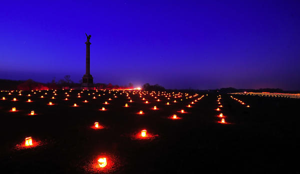 Thousands of luminarias were lit Saturday evening at Antietam National Battlefield.