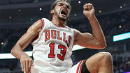 From the moment Joakim Noah tipped home Kirk Hinrich's miss 28 seconds after Saturday night's tipoff, the Bulls' emotional leader worked himself into a lather.