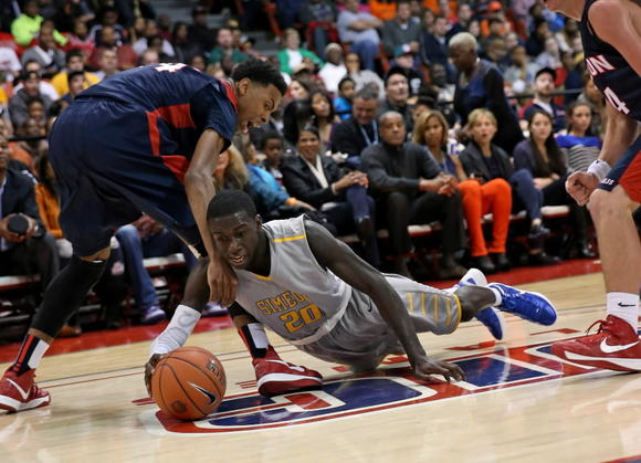 Simeon's Kendrick Nunn goes after a loose ball against Milton's Charl Wilson-Fisher on Saturday during the Chicago Elite Classic at UIC Pavilion.