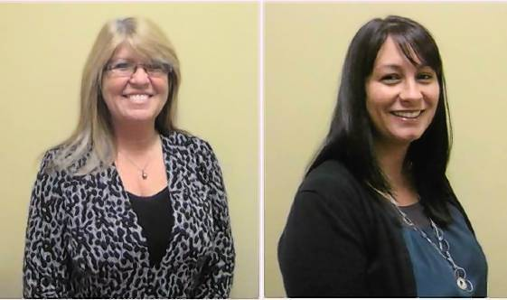 Anita Esposito (ON THE LEFT) was hired as administrative assistant in loan operations at Reunion Bank, Port Orange.
