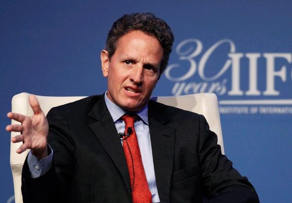 U.S. Treasury Secretary Timothy Geithner speaks at the Institute of International Finance (IIF)'s annual meeting in Tokyo October 11, 2012.