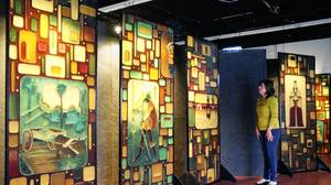 Leesburg arts center shows off history in mosaic murals from former bank