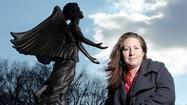 Maryland's first Angel of Hope statue stands in a garden across from the South Carroll Senior and Community Center, on Mineral Hill Road, in Eldersburg.