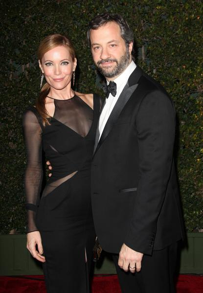Actress Leslie Mann and director Judd Apatow.