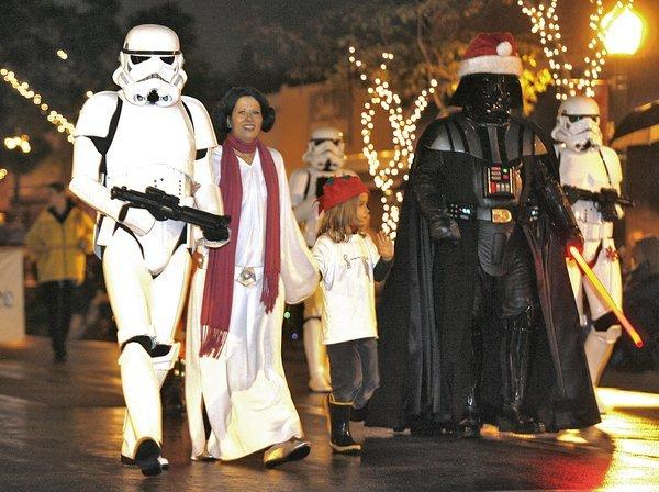 Storm troopers, Princess Leia Organa and Darth Vader entertained the crowds art the annual Montrose Christmas Parade in Montrose on Saturday.