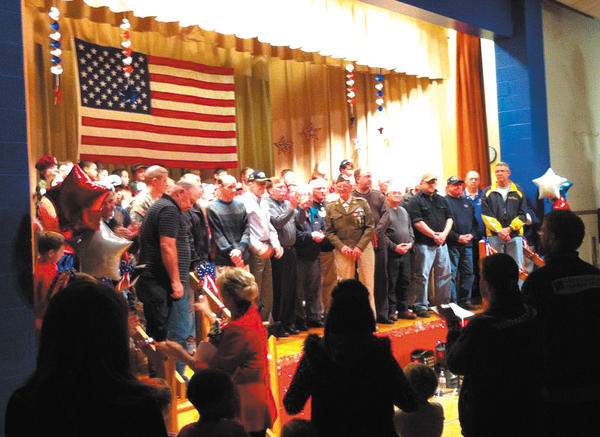 Area veterans and men and women serving in the armed forces were recognized by Hickory Elementary School students during the school's fifth annual Veterans Day program.