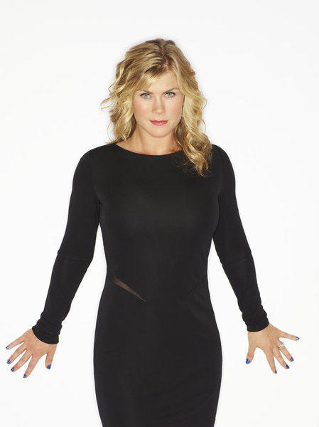 "And last but not least: host Alison Sweeney. Her role on ""Biggest Loser"" is arguably the most challenging because it is three-fold: She develops a close, personal relationship at the same time she also plays the feared Gamemaker, throwing down the challenges that help determine whether a player stays or goes. And then of course, she oversees all the weigh-ins -- and eliminations."