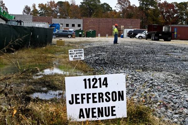 A Walmart Market grocery store is under construction at the intersection of Harpersville Road and Jefferson Avenue in Newport News.