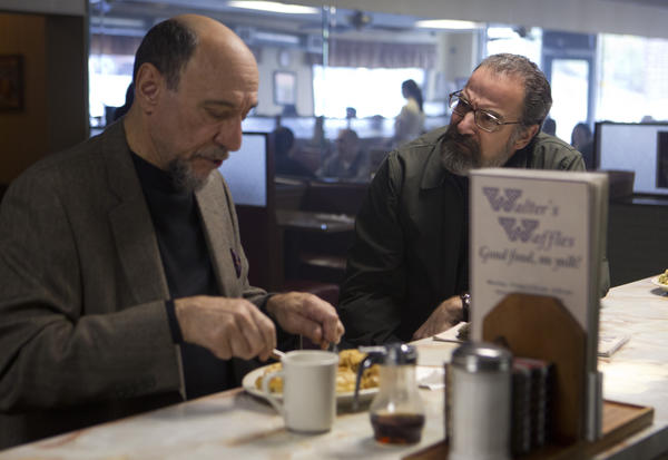 F. Murray Abraham as Dar Adal and Mandy Patinkin as Saul Berenson in Homeland (season 2, episode 10).