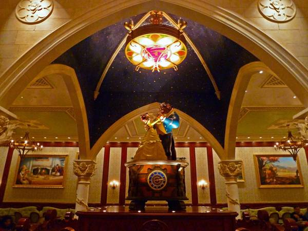 The Rose Gallery in the Beast's Castle in Disney World's Fantasyland