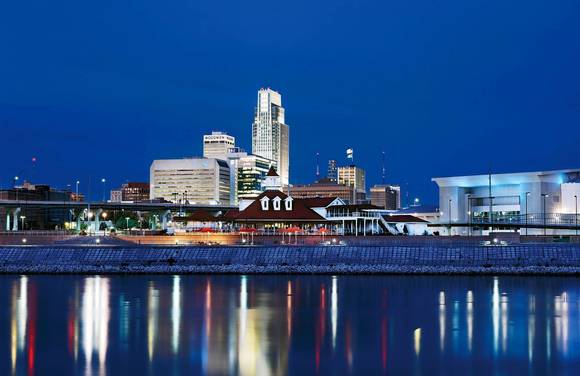 Omaha Skyline from Omaha Convention and Visitors Bureau