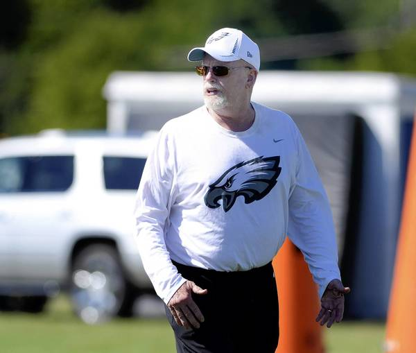 The Eagles have dismissed defensive line coach Jim Washburn.