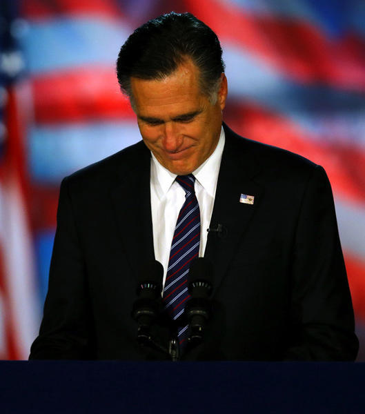 Year in Review: News of 2012: Republican presidential candidate Mitt Romney conceded the presidency during his election night event at the Boston Convention & Exhibition Center on Nov. 6.